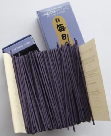 Morning Star Lavender Incense | Box of 200 Sticks & Holder by Nippon Kodo