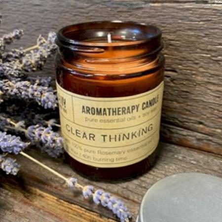 Aromatherapy Soy Wax Candle | Rosemary (Clear Thinking) | Pure & Vegan
