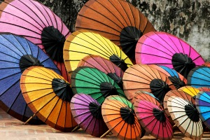 Greeting Card | Buddhist Themed | Colourful Paper Parasols | #13 of 20