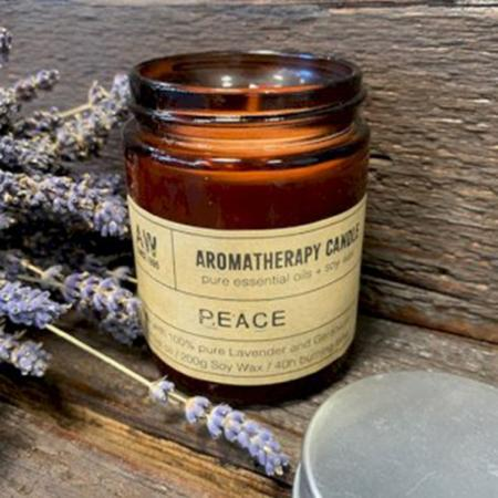 Aromatherapy Soy Wax Candle | Geranium & Lavender (Peace) | Pure & Vegan