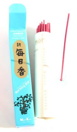 Morning Star Jasmine Incense | Box of 50 Sticks & Holder by Nippon Kodo